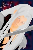 Sephiroth with sword by balsen