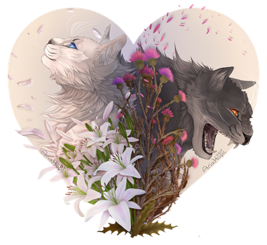 2 sides + Flowers by Aria-Hope