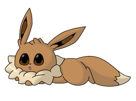 chibi eevee colored by Kimi133