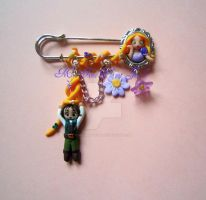 Rapunzel and Eugene 'BROACH' by MyFimoPlanet