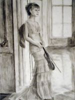 Woman With A Violin by sognatore
