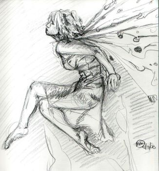 Faery - Figure Drawing by Teygan