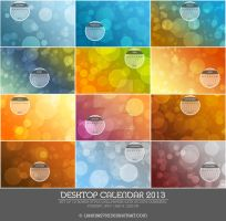 Preview: Bokeh Desktop Wallpaper Calendar 2013 by Lavinia1988