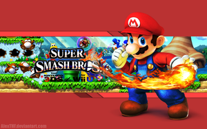 Mario Wallpaper - Super Smash Bros. Wii U/3DS by AlexTHF