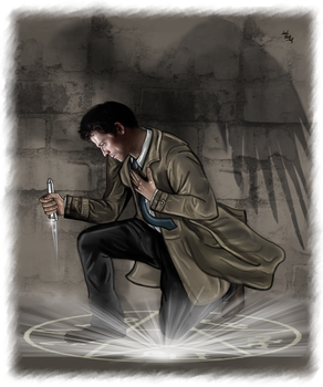 Castiel - Light and shade by LadyMintLeaf