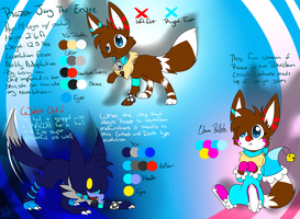 Razor The Eevee Reference Sheet [REDONE] by CrystalFeza