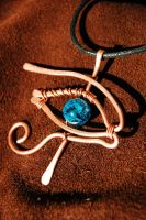 Eye of Horus pendant by yuhime