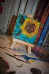 Vincent van Gogh practice - sunflower. by Mrs-Reed