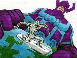 Galactus, Surfer sketch card by LangleyEffect