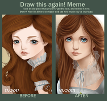 Meme: Draw this Again - Cnina Doll by LilyT-Art
