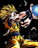 Dragon Ball-Goku Sayayan by puyol3