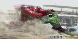 AVENGERS 2: AGE OF ULTRON - Iron Man VS. Hulk by RoxasXIIIK