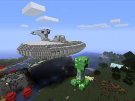 Giant Creeper and the Apollo by Marksman104