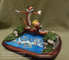 Calvin n' Hobbes on log by MattOfSteel