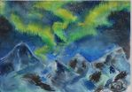 Snow Mountain Northern Lights by Douhua-Tang