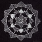 Mandala 010 ~ Silver on Black by Jane-Rt