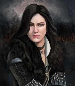The Witcher 3. Yennefer  of Vengerberg by Victoria-victorem