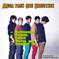 Mega pack One Direction by JaviiUnicornEditions