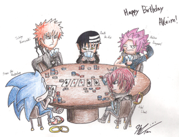 Anime and Game Character's Texas Hold'em Match by KCampbell499