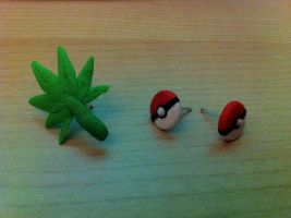 Pokeball and Marijuana Leaf Earrings by UniqueT