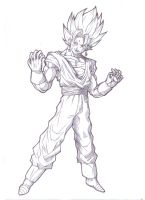 ssj Vegeto by bloodsplach