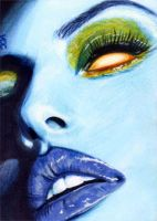 Mystique Sketch Card 3 by veripwolf