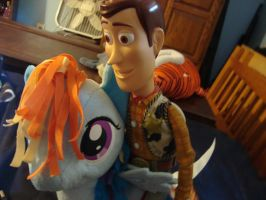 Woody and Rainbow Dash by spidyphan2
