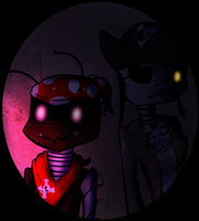 Bones and Captain : FNAF OCs by ThePotato-Queen