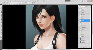 Tifa Lockhart Portrait WIP2 by Accuracy0