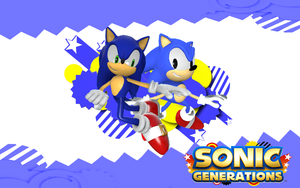 Sonic Generations-Both Sonics by Nibroc-Rock
