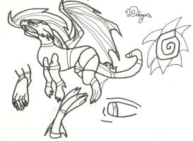 Dragon Doodles: Uncoloured by xxxBrokenSoulxxx