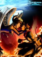 Korra and Mako Between The Sky and The Hell by SolKorra