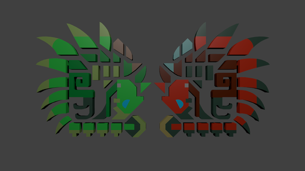 Rathalos and Rathian Icons by Trodag