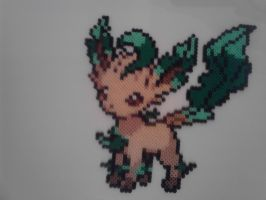 Pokemon Leafeon Perler by RetroNinNin
