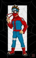 Naruto style Spidey by thesometimers