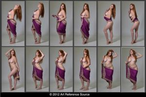 Ryann 12 Poses With Wrap Art Reference Stock by ArtReferenceSource