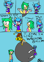 I CAME IN LIKE A WRECKING BALL!! by vocaloidCyborg
