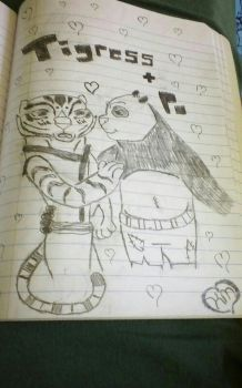 Tigress and Po by poxtigress568