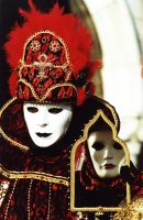 Venice carnival mask + mirror by bobsongs