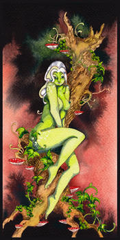 Dryad pin-up by Feidhelm
