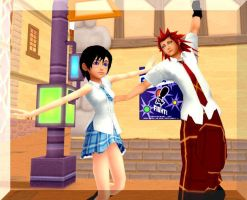 Xion and Axel after school by SammyJustNobody