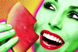 Pop Art Watermelon by thrillerdesigns