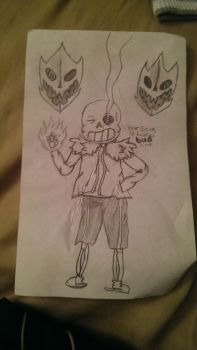 sans the skeleton drawing by Silversketch210