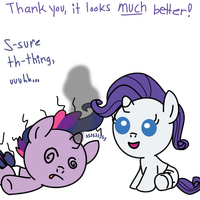 Baby Rarity's new new new hairstyle by jrk08004