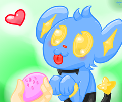Give Shinx Da Poffin by ThatGirlWithaShinx