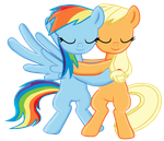 RainbowJack hug -Collab by Fluttershy626