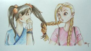 Contest entry - pigtails by Lilinanana86
