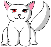 Cat Line art by Kanean