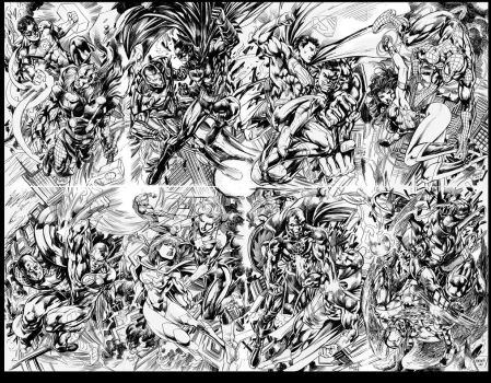 Marvel Now vs DCnew 52 by gammaknight