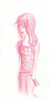 Girl in Pink by artloverrsnp